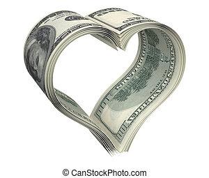 coeur, fait, dollar, papiers, peu