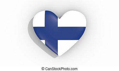 coeur, finlande, couleurs, drapeau, impulsions, boucle