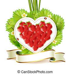 coeur, fraise