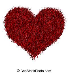 coeur, furred, rouges