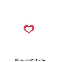 coeur, humain, icônes