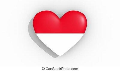 coeur, indonésie, couleurs, drapeau, impulsions, boucle