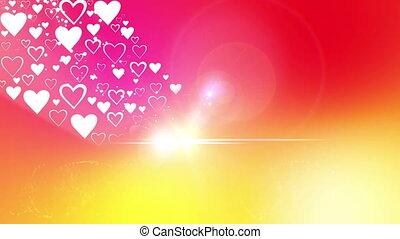 coeur, jour, petite amie