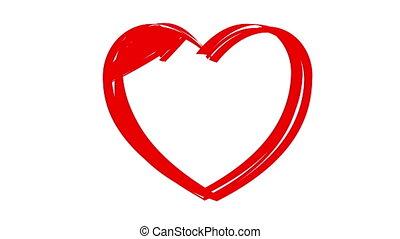 "coeur, ""love, dessin, you"""