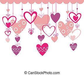 coeur, love., fond