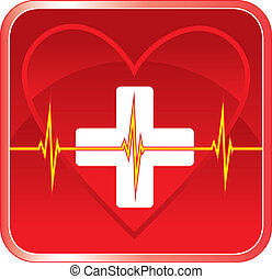 coeur, monde médical, premier, santé, aide
