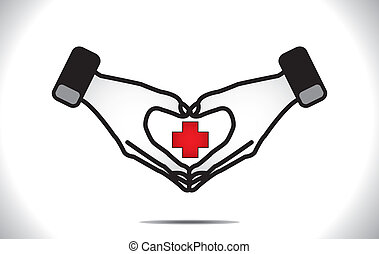 coeur, monde médical, protection, plus, soin