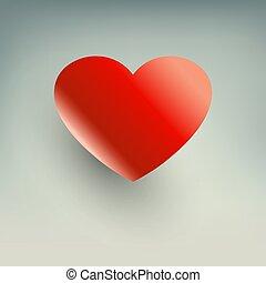 coeur, ombre, rouges