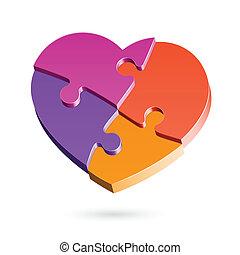 coeur, puzzle