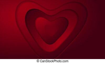 coeur, résumé, valentines, rue, animation, vidéo, jour, rouges