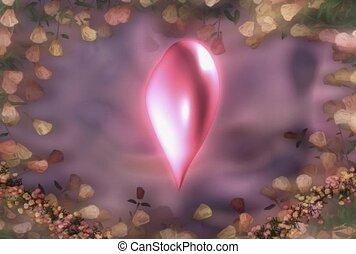 coeur, romance, amour