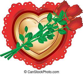coeur, roses