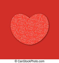 coeur, roses rouges