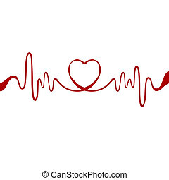 coeur, ruban rouge