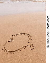 coeur, sable