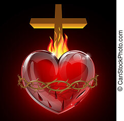 coeur sacré, illustration
