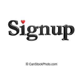 coeur, signup, amour