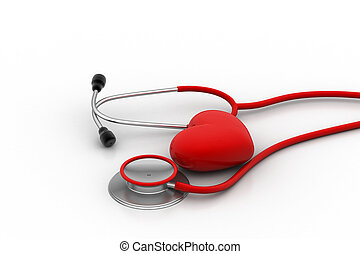 coeur, stéthoscope, signe