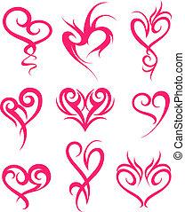 coeur, symbole, conception