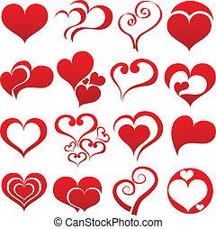 coeur, symbole, ensemble