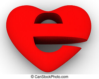 coeur, symbole, internet