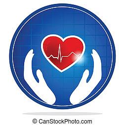 coeur, symbole, protection, humain