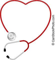 coeur, symbole, stéthoscope