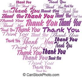 coeur, tagcloud, remercier, -, forme, vous