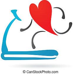 coeur, tapis roulant