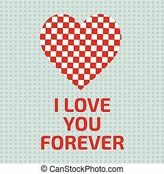 coeur, toujours, amour, typogrpahic, vous, carte
