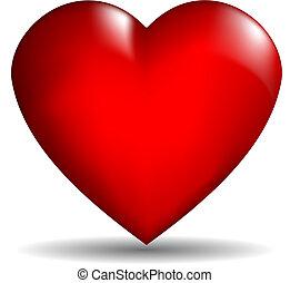 coeur, vecteur, 3d
