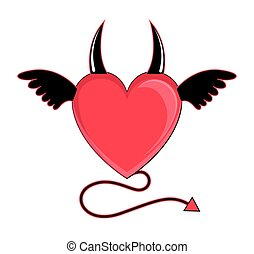 coeur, vecteur, diable