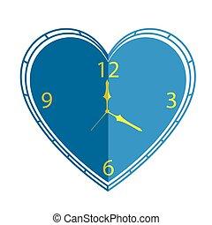 coeur, vecteur, horloge