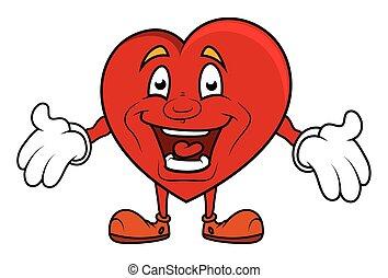 coeur, vecteur, rire, présentation