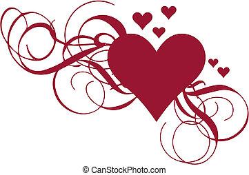 coeur, vecteur, tourbillons