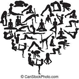 coeur, yoga