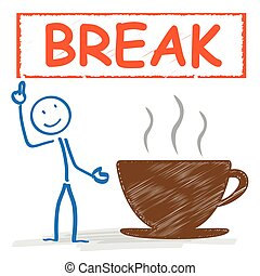 coffeecup, stickman, coupure