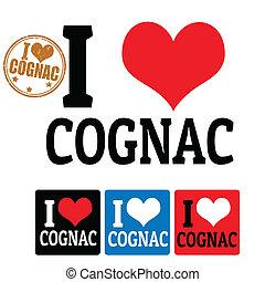 cognac, étiquettes, amour, signe