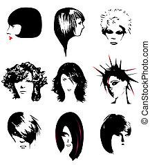 coiffure, femmes