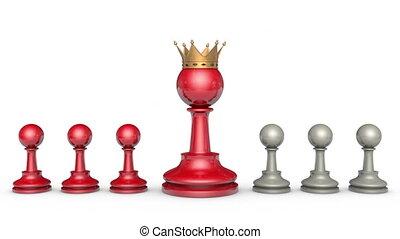 collaborateurs, (chess, metaphor).