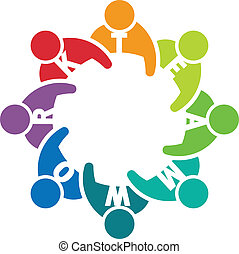 collaboration, 8., réunion, groupe, gens