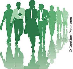 collaboration, affaires gens, équipe