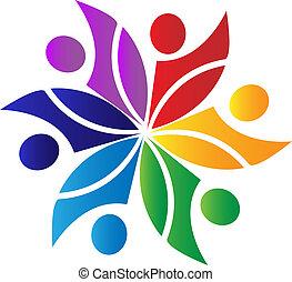 collaboration, diversité, logo