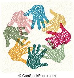 collaboration, mains
