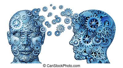 collaboration, plomb, apprendre