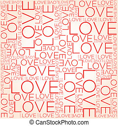 collage, amour, mot