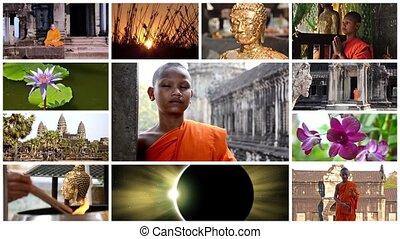 collage, bouddhisme