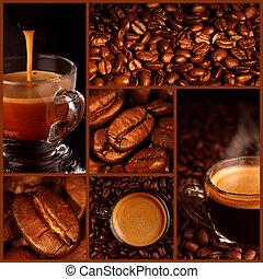 collage, café, express