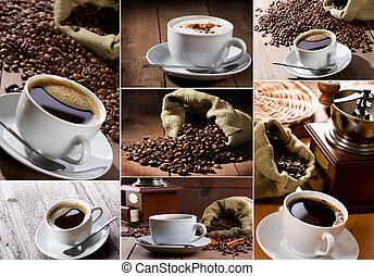 collage, café
