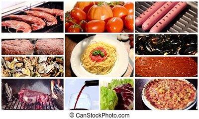 collage, cuisine méditerranéenne